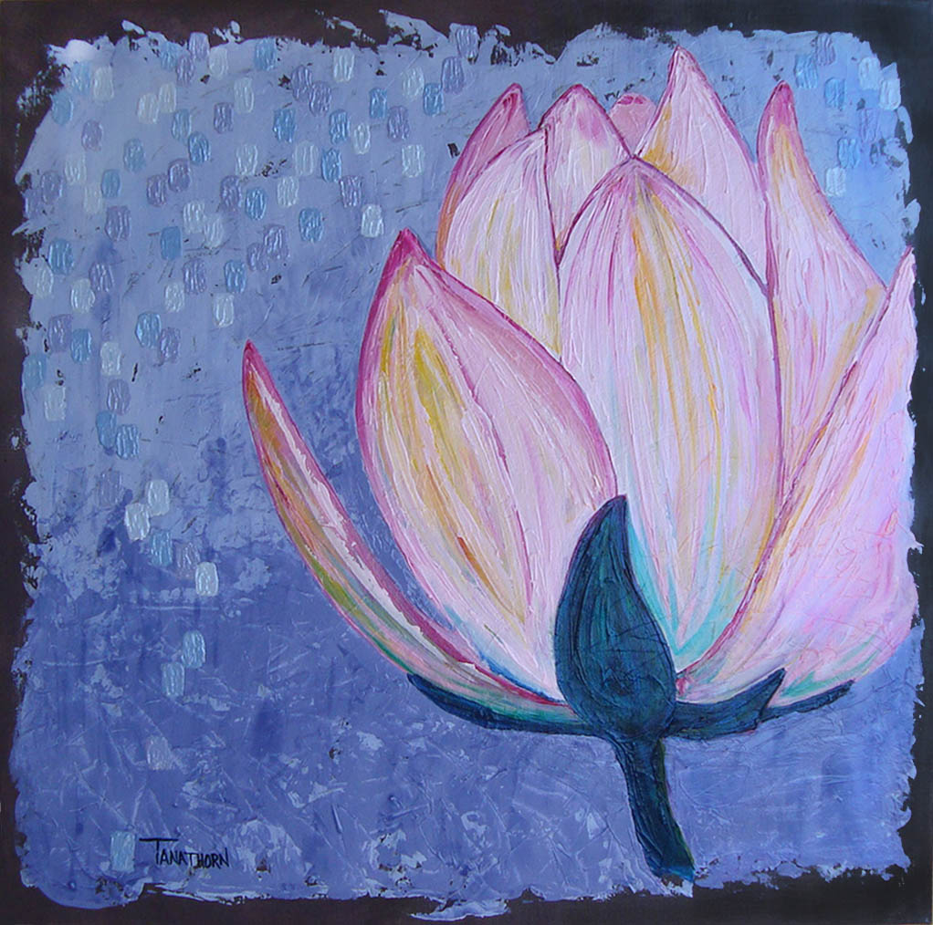 lotus painting, flower painting, meditation,